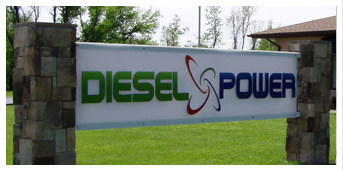 diesel power, sign in front of building